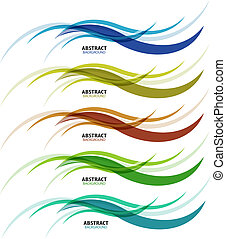 Abstract background colorful business wave line set