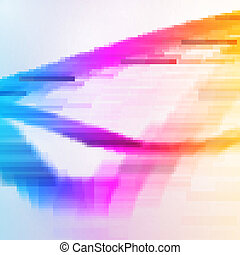 Abstract background, colorful elements.