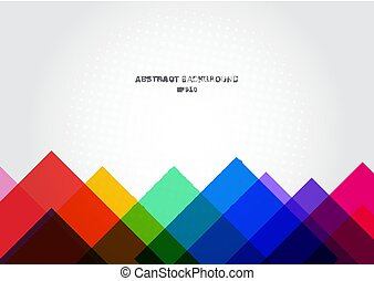 Abstract background colorful geometric template modern triangles overlapping with white space for text.