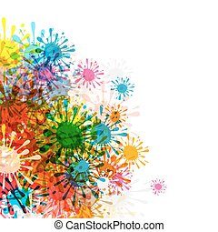 Abstract Background. Colorful Splashes Backdrop. Vector.