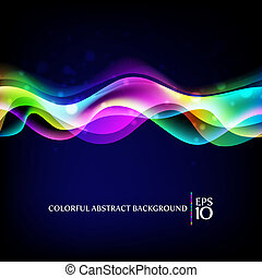 Abstract background - colorful wave