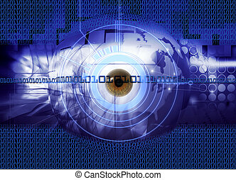 Security - abstract background - conception illustration...
