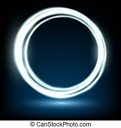abstract background consisting of illuminated rings