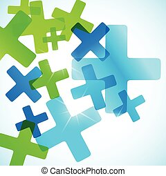 abstract background cross