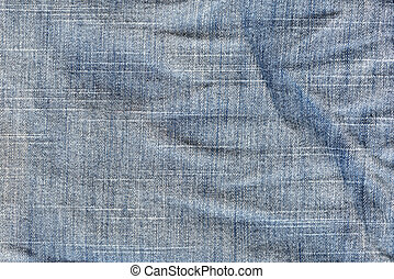 Abstract background crumpled jeans.