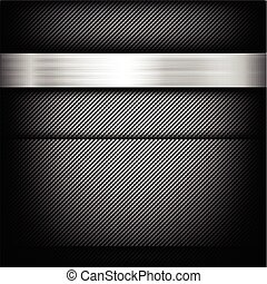 Abstract background dark and black carbon fiber with polished metal texture vector illustration 002