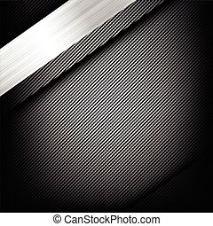 Abstract background dark and black carbon fiber with polished metal texture vector illustration 003