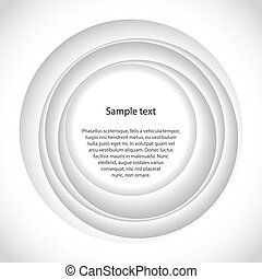 Abstract background design with 3d circles
