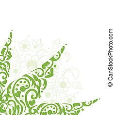 abstract background design with flowers