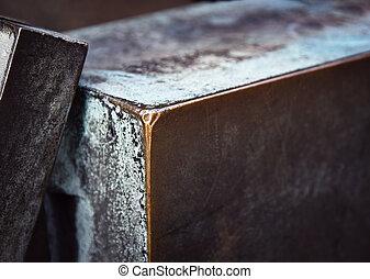 detail of the bronze block