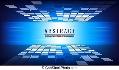 abstract background digital technology concept blue vector