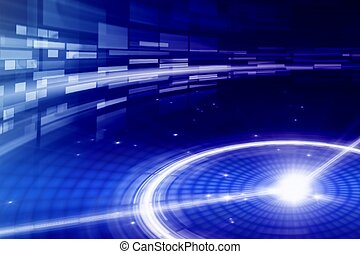 Abstract background - bright light in night