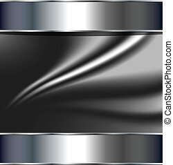 Abstract background, metallic silver grey, vector.