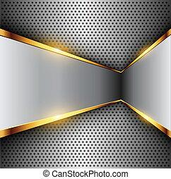 Abstract background elegant metallic, vector.