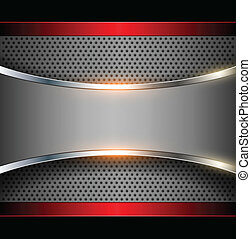 Abstract background elegant metallic, vector.