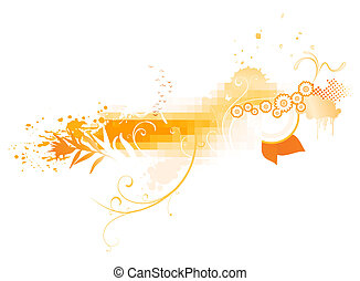 abstract background - Vector illustration of funky abstract...
