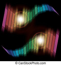 Abstract Background - Multicolor Equalizer on Black Background