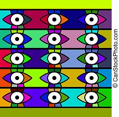 abstract background eyes - abstract colored background image...