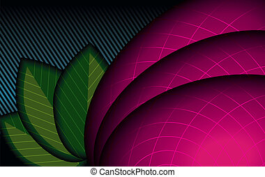 Abstract Background (Floral Theme). Vector Illustration.