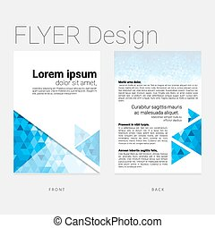 Abstract background flyer - Abstract graphic flyer template...