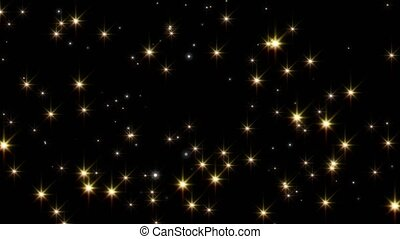 Abstract background, flying stars. Alpha channel.