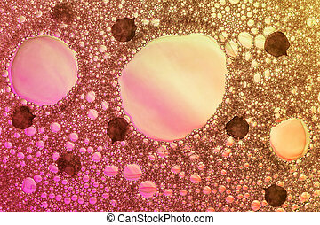 Abstract background foam closeup