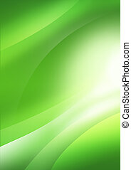 Abstract background fon.Plavnoe motion lines green light