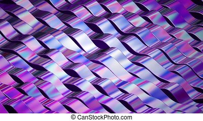 Abstract background footage. Colorful twisted lines in...