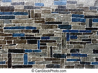 stone blocks wall, vector