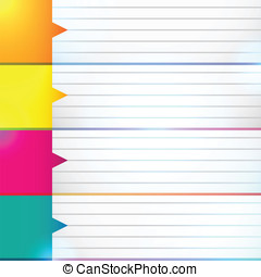 Abstract background for organizer - Abstract colorful...