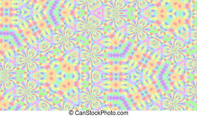 abstract background for screensaver and meditation to music with yellow shades of neon glow and camera shake for hypnosis.