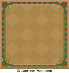 Abstract background, frame, brown