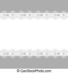 Abstract background. Frame decorated with lace