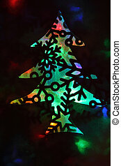abstract background from christmas lights