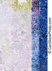 Abstract background from pieces of quilting fabrics