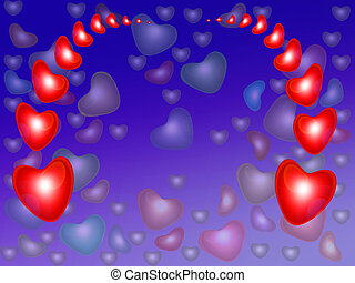 Abstract background from red heart