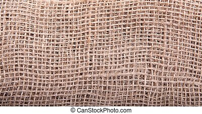 abstract background from sackcloth, close up