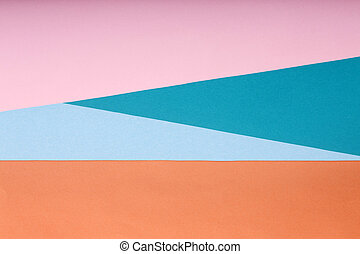 Abstract background from sheets of colored paper