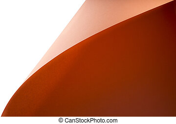 Abstract background from sheets of orange and pink