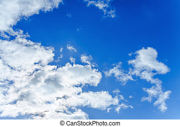 background from the blue sky with white clouds