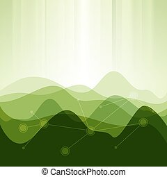 Abstract background from waves