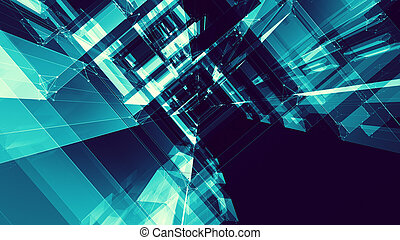 Abstract background. Futuristic concept. Space technology future
