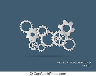 Abstract background. Gear wheels