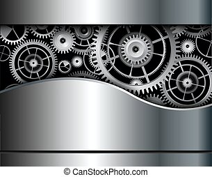 Abstract background gears
