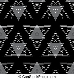 Abstract Background Geometric Seamless Pattern.