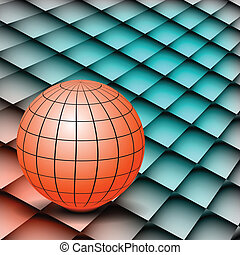 Abstract background Globe on board