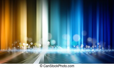 Abstract background - glowing colored lines with round flare...