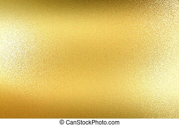 Abstract background, glowing gold wall surface