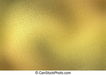 Abstract background, glowing gold wall wave surface