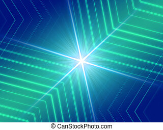 glowing lines